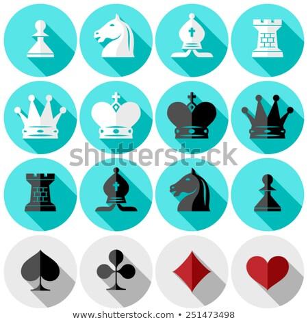 Diamond chess Rook card, vector illustration Stock photo © carodi