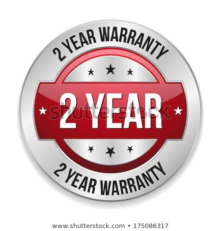 Año garantía rojo vector icono botón Foto stock © rizwanali3d