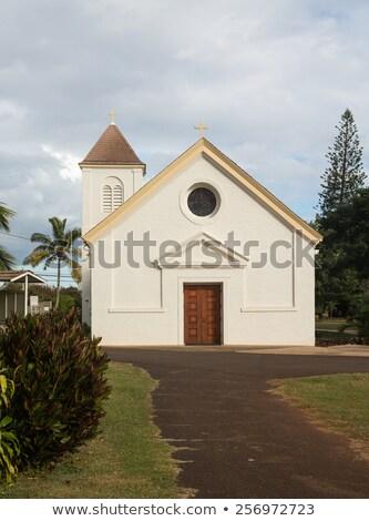 katolikus · templom · feszület · torony · épület · város - stock fotó © backyardproductions