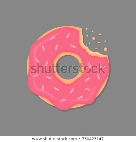 Bitten Donut with crumbs Stock photo © HASLOO