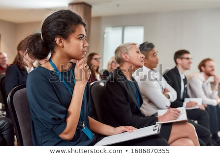 Público palestra ouvir alto-falante falar reunião de negócios Foto stock © kasto