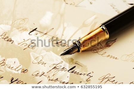 ódivatú levél toll iroda fa fény Stock fotó © jarin13