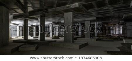 モニュメンタル 建設 定型化された 抽象的な 家 建物 ストックフォト © tracer