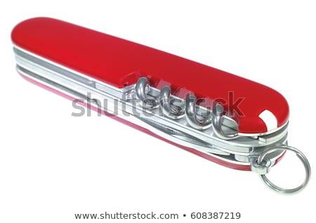 ordu · bıçak · yalıtılmış · beyaz · çalışmak · Metal - stok fotoğraf © ozaiachin