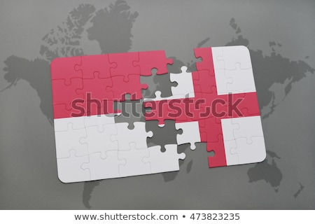 Indonesia and England Flags in puzzle  Stock photo © Istanbul2009