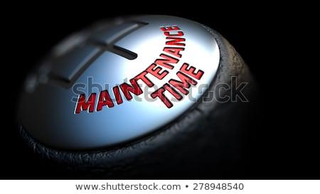 operational maintenance on gear stick with red text stock photo © tashatuvango