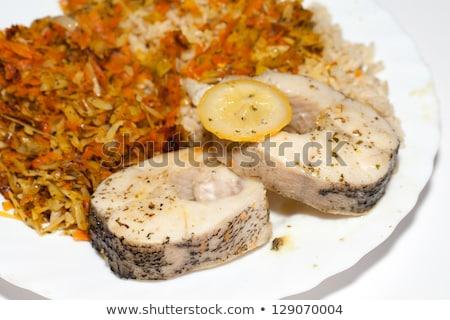 Dieta saudável marrom arroz vegetal comida cozinha Foto stock © wjarek
