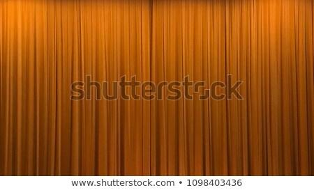 оранжевый занавес ткань волна шаблон текстильной Сток-фото © schizophrenia