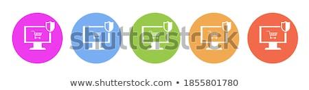 financial banking orange vector button icon design set stock photo © rizwanali3d