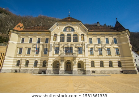 Лихтенштейн парламент здании закат город пейзаж Сток-фото © benkrut