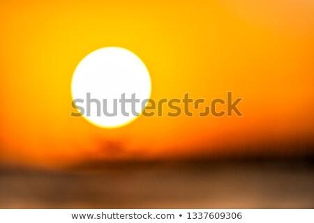 fából · készült · móló · vízpart · naplemente · napfény · eltűnik - stock fotó © stevanovicigor