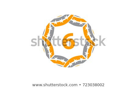 Infinite ribbon six star template.  Stock photo © netkov1