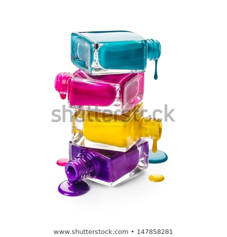 Kleurrijk nagellak geïsoleerd witte glas achtergrond Stockfoto © tetkoren