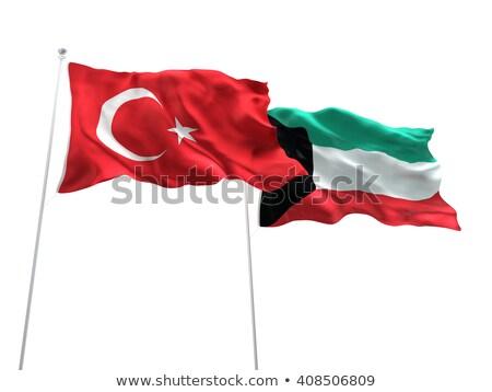 Turkey and Kuwait Flags  Stock photo © Istanbul2009