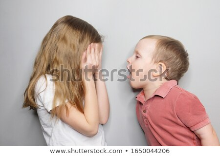 портрет несчастный девушки кричали брат белый Сток-фото © wavebreak_media