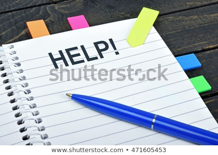 Help Wanted note on agenda and pen Stock photo © fuzzbones0