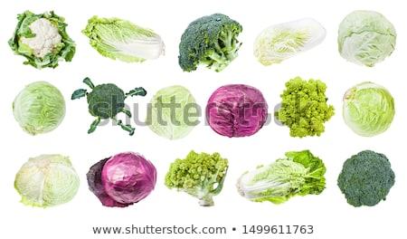 Brokuły kapusta jeden organiczny głowie Zdjęcia stock © Klinker