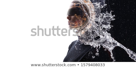 Creative Concept. Young Woman with Closed Eyes Stock photo © gromovataya
