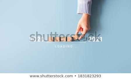 Stock photo: Resolution blue loading bar
