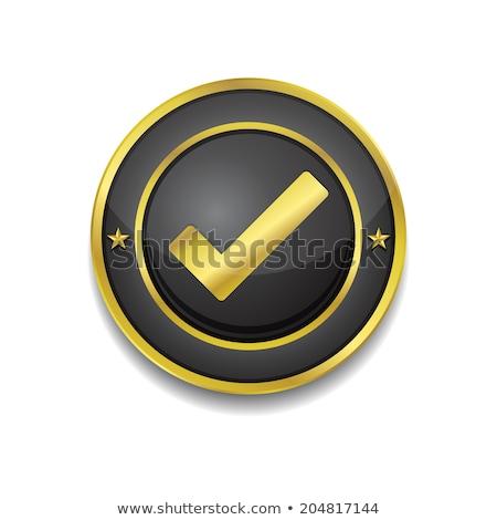 マーク ベクトル 金 ウェブのアイコン ボタン ストックフォト © rizwanali3d