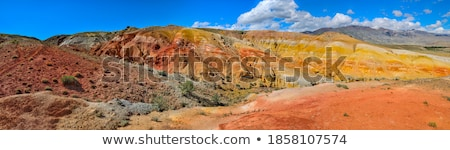 panorama with deposit of colorful clay stock photo © mikko