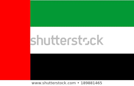 National flag of United Arab Emirates with correct proportions, element, colors Stock photo © tkacchuk