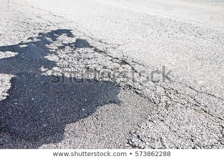 mal · asfalto · carretera · verde · campo · cielo · azul - foto stock © simazoran