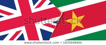 Büyük Britanya Surinam bayraklar bilmece yalıtılmış beyaz Stok fotoğraf © Istanbul2009