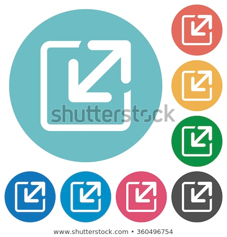 Zoom Out Yellow Vector Icon Design Stock photo © rizwanali3d