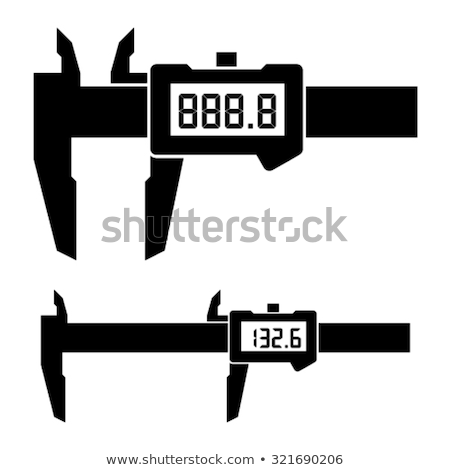 Electronic digital caliper Stock photo © nemalo