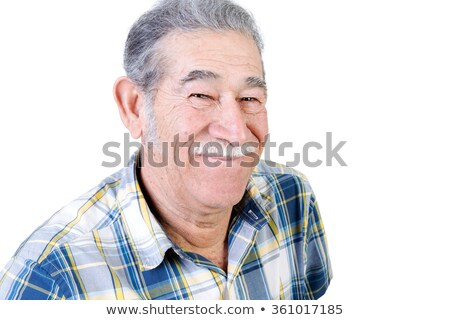 Authentic older Mexican man grinning Stock photo © ozgur
