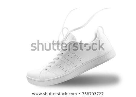 mavi · spor · ayakkabı · yalıtılmış · beyaz · kadın - stok fotoğraf © shutswis