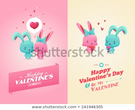san · valentino · carta · cuori · biglietto · d'auguri · vettore · felice - foto d'archivio © beholdereye