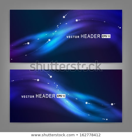 Northern light line on black. EPS 10 Stock photo © beholdereye