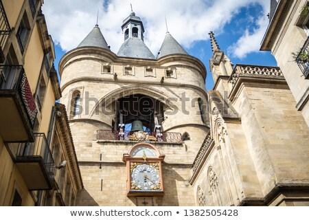 Templom Bordeau Franciaország óra harang torony Stock fotó © Photooiasson