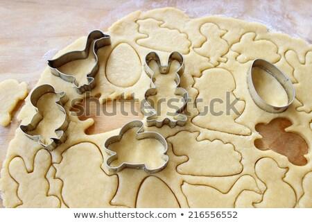 Foto stock: Páscoa · bolo · pão · de · especiarias · ovos · forma · cordeiro