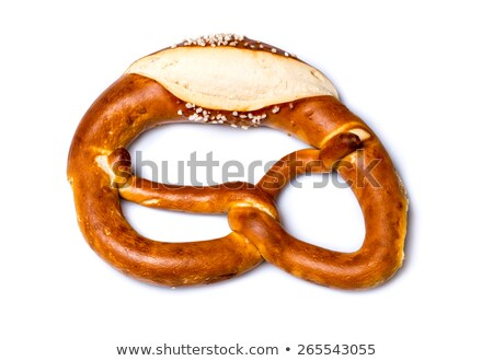 Fresh German pretzel  (Bretzel or Bretze) on white  Stock photo © franky242