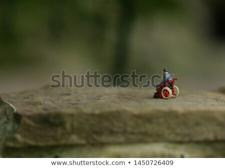 miniature figures on bike in forest Stock photo © compuinfoto