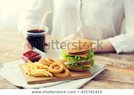 Eating Fatty Food Stock photo © Lightsource