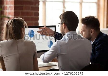 Calcular estadística datos tabla gráfico Foto stock © stuartmiles