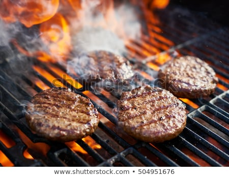 gegrild · barbecue · grid · plantaardige · hamburger · rundvlees - stockfoto © Digifoodstock