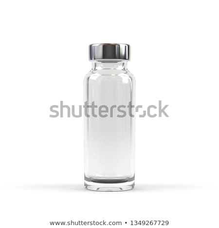 üveg fiola közelkép szürke egészség gyógyszer Stock fotó © OleksandrO