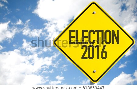 Road sign Election 2016 on sky Stock photo © Oakozhan