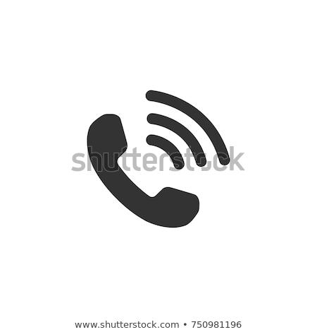 Zdjęcia stock: Telefon · ikona · ilustracja · biały · telefonu · tle
