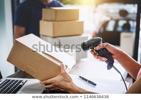boodschapper · postkantoor · illustratie · witte · kantoor · man - stockfoto © bluering