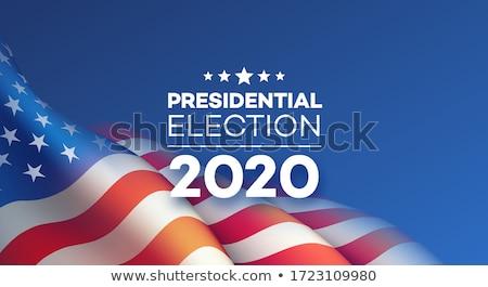 Presidencial eleição EUA bandeira vermelho bandeira americana Foto stock © m_pavlov