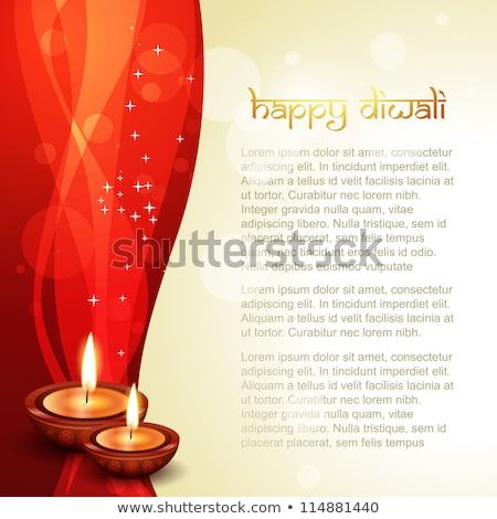 happy diwali greeting design with space for your text stock photo © sarts