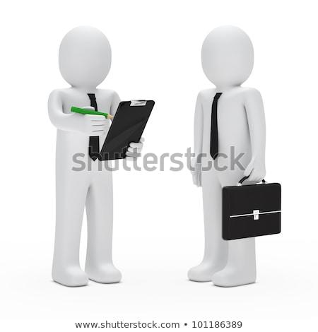 3D · fehér · emberek · üzlet · metafora · erős · irányítás - stock fotó © orla