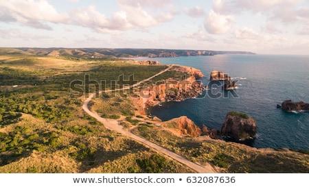 Portugalia zachód wybrzeża krajobraz ocean wygaśnięcia Zdjęcia stock © joyr