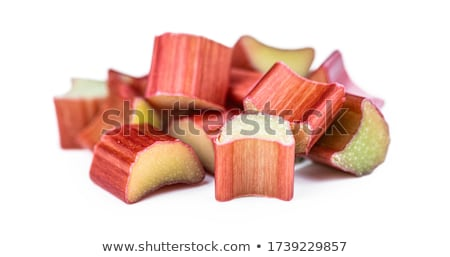 Posiekane świeże rabarbar cięcia mały sztuk Zdjęcia stock © Digifoodstock